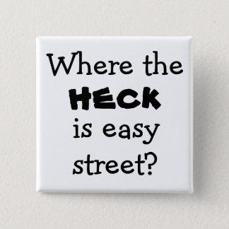 Neuheitsknopf der einfachen Straße des Quadratischer Button 5,1 Cm