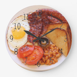 Neuheitsuhr des vollen englischen Frühstücks Große Wanduhr