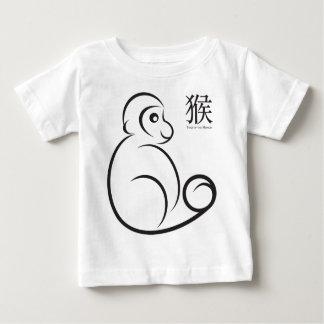 Neujahrsfest-Affe-Linie Kunst Baby T-shirt