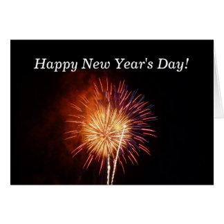 Neujahrstag-Feuerwerke Karte