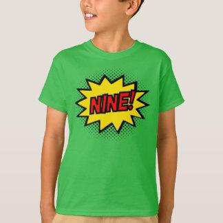 NEUN! 9. Geburtstags-Geschenksuperhero-Logo-T - T-Shirt