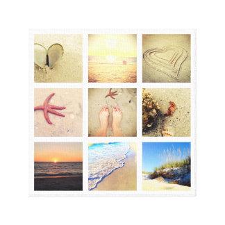 Neun Foto-Collagen-Gewohnheits-Leinwand Leinwanddruck