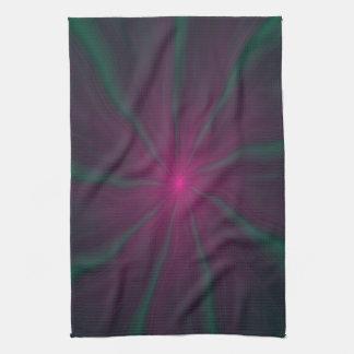 Neun grüne Finger-Tücher Handtuch