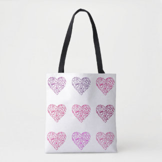 Neun Herzen Musiknoten-Taschen-Tasche Tasche