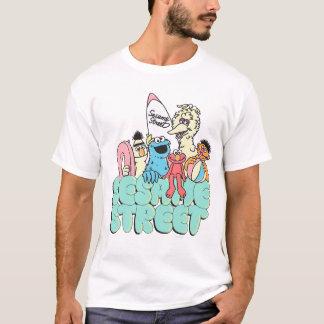 Neunzigerjahre Sesam-Straßen-Vintage Brandung T-Shirt