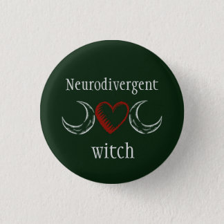 Neurodivergent Hexe Runder Button 3,2 Cm