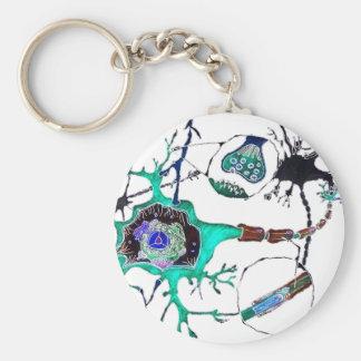 Neuron! Standard Runder Schlüsselanhänger