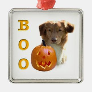 Neuschottland Halloween BOO Silbernes Ornament