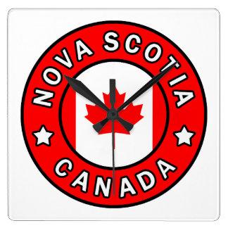 Neuschottland Kanada Quadratische Wanduhr
