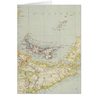 Neuschottland, Prince-Edward-Insel, New-Brunswick Karte