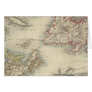 Neuschottland und Neufundland Karte
