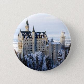Neuschwanstein-Schloss 4 Runder Button 5,7 Cm