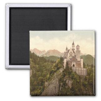 Neuschwanstein-Schloss, Bayern, Deutschland Quadratischer Magnet