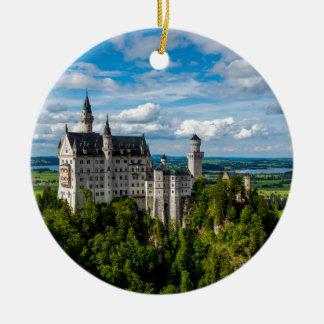 Neuschwanstein-Schloss - Bayern - Deutschland Rundes Keramik Ornament