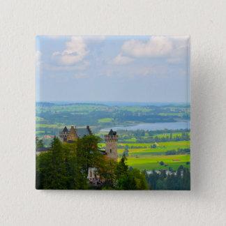 Neuschwanstein-Schloss im Bayern Deutschland Quadratischer Button 5,1 Cm