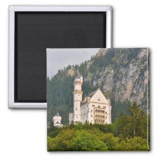 Neuschwanstein-Schloss im Bayern Deutschland Quadratischer Magnet