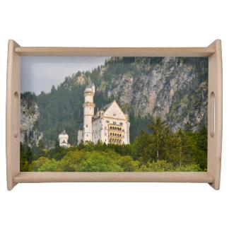Neuschwanstein-Schloss im Bayern Deutschland Tablett