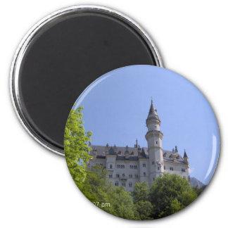 Neuschwanstein-Schloss - Magnet Runder Magnet 5,7 Cm