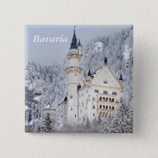 Neuschwanstein-Schloss Quadratischer Button 5,1 Cm