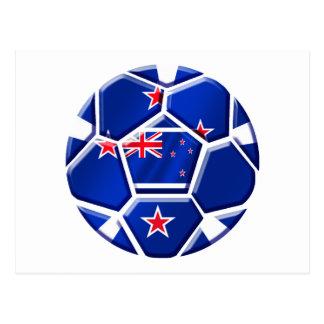 Neuseeland aller Weiß-Fußball-Geschenke 2010 Gang Postkarte