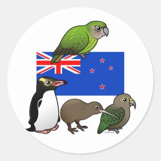 Neuseeland Birdorables Runder Sticker