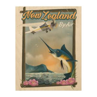 Neuseeland-Fischenreiseplakat Holzwanddeko