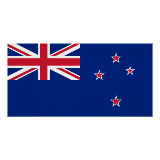 Neuseeland-Flagge Poster