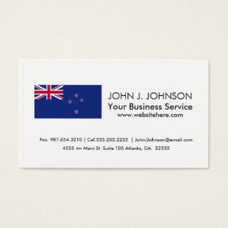 Neuseeland-Flagge Visitenkarten