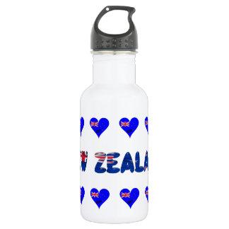 Neuseeland-Herzflagge Edelstahlflasche