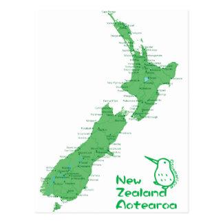 Neuseeland-Karte Postkarte