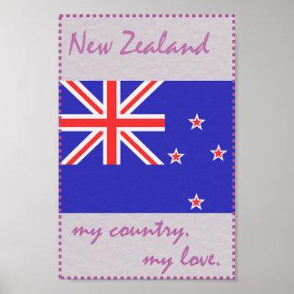 Neuseeland mein Land meine Liebe Poster