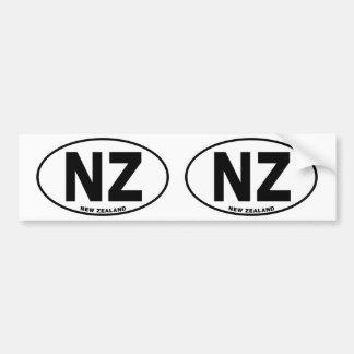 Neuseeland NZ ovale Autoaufkleber