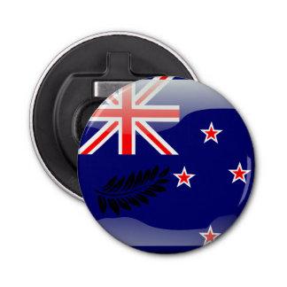 Neuseeland polierte Flagge Runder Flaschenöffner