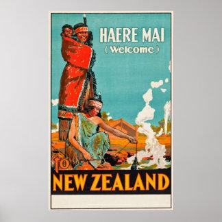 Neuseeland-Reise-Plakat Poster