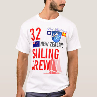 Neuseeland-Segeln-Crew nautisch T-Shirt