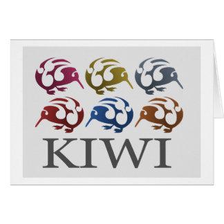 Neuseeland-Vögel KIWI-Karte Mitteilungskarte