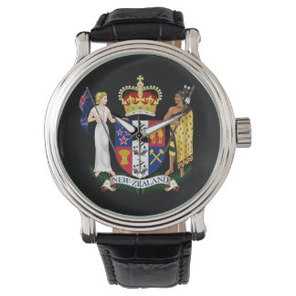 Neuseeland-Wappen-kundenspezifische Uhr