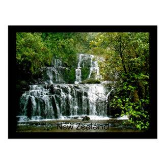 Neuseeland-Wasserfall - Purakaunui Fälle Postkarte