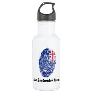 Neuseeländische Touchfingerabdruckflagge Trinkflasche