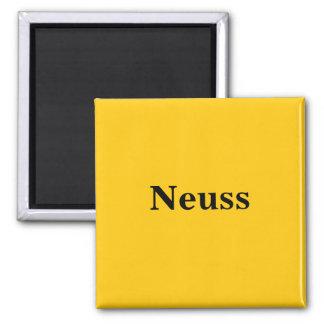 Neuss  Magnet Schild Gold Gleb Quadratischer Magnet