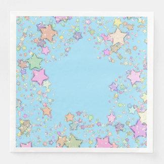 Neutrale das Stern-blaue Geschlecht/decken Papierservietten