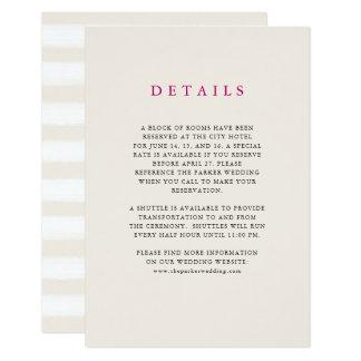 Neutrale Wüste Stripes   Wedding Karte