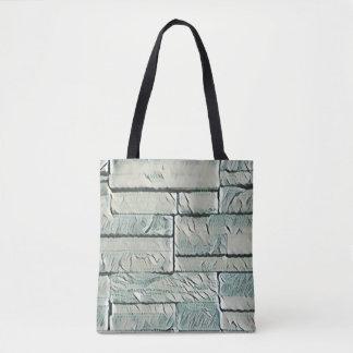 Neutraler grüner Beton Staplungsziegelstein-Muster Tasche