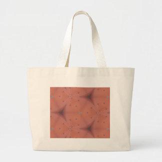 Neutraler Pfirsich-abstraktes Muster Jumbo Stoffbeutel