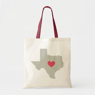 Neutraler Texas-Staat mit roter Budget Stoffbeutel