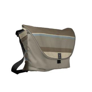 Neutraler Tonal Streifen-Entwurf Kurier Taschen