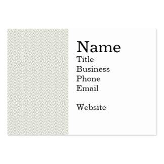 Neutrales Bio Blatt-Muster Jumbo-Visitenkarten