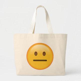 Neutrales Gesicht - Emoji Jumbo Stoffbeutel