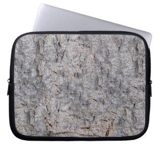 Neutrales tropisches Baum-Barken-Foto Laptop Sleeve