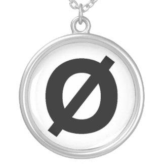 Neutrois Symbolhalskette Halskette Mit Rundem Anhänger